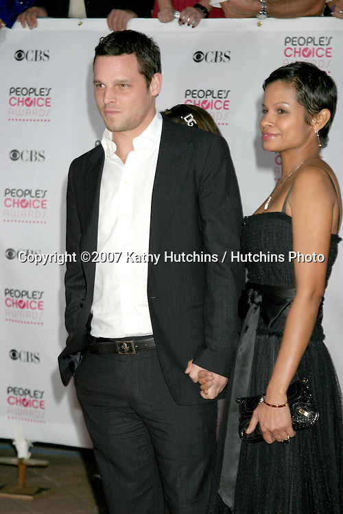 Justin Chambers and wife.2007 People's Choice Awards -  Arrivals.Shrine Auditorium.Los Angeles,  CA.January 8, 2007.©2007 Kathy Hutchins / Hutchins Photo....