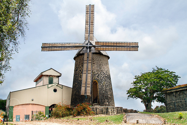 Bellevue Rum Factory and windmill