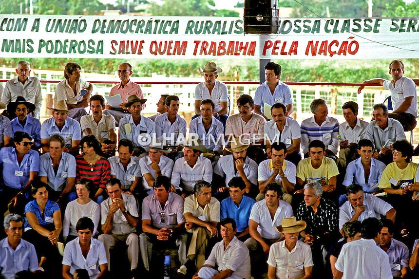 Primeiro Encontra Nacional da Uniao Democratica Ruralista em Campina Verde. Minas Gerais. 1986. Foto de Cynthia Brito.