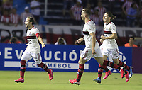 BARRANQUILLA, COLOMBIA - MARCH 04: Flamengo Everton Augusto de Barros Ribeiro from Flamengo celebrate after scoring during the group A match of Copa CONMEBOL Libertadores between Junior and Flamengo at Estadio Metropolitano on March 4, 2020 in Barranquilla, Colombia. (Photo by Daniel Munoz/VIEW press via Getty Images)