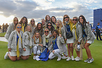 Team Europe wives and girlfriends assemble for a team photo following Sunday's singles of the 2018 Ryder Cup, Le Golf National, Guyancourt, France. 9/30/2018.<br /> Picture: Golffile | Ken Murray<br /> <br /> <br /> All photo usage must carry mandatory copyright credit (&copy; Golffile | Ken Murray)