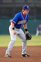 Auburn Doubledays third baseman Mills Rogers #30 during a game against the Batavia Muckdogs at Dwyer Stadium on September 3, 2011 in Batavia, New York.  Auburn defeated Batavia 2-1.  (Mike Janes/Four Seam Images)