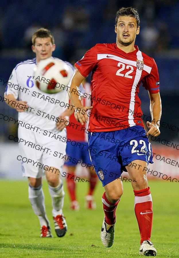 Fudbal, EURO 2012 Group C, qualifications.Serbia Vs. Farska Ostrva (Faroe Islands).Zdravko Kuzmanovic, left .Beograd, 06.09.2011..Foto: Srdjan Stevanovic/Starsportphoto.com ©