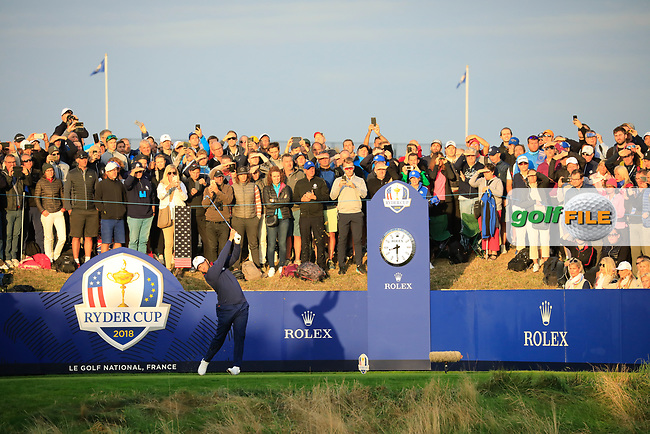 // at the Ryder Cup, Le Golf National, Paris, France. 28/09/2018.<br /> Picture Phil Inglis / Golffile.ie<br /> <br /> All photo usage must carry mandatory copyright credit (© Golffile   Phil Inglis)