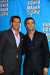 "Thomas Roberts and Patrick Abner at Broadway's ""Vanya and Sonia and Masha and Spike"" which had its opening night on March 14, 2013 at the Golden Theatre, New York City, New York.  (Photo by Sue Coflin/Max Photos)"