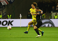Luka Jovic (Eintracht Frankfurt) gegen David Luiz (Chelsea FC) - 02.05.2019: Eintracht Frankfurt vs. Chelsea FC London, UEFA Europa League, Halbfinale Hinspiel, Commerzbank Arena DISCLAIMER: DFL regulations prohibit any use of photographs as image sequences and/or quasi-video.