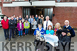 Chief Superintendent Tom Myers and Superintendent Jim O'Connor with members of Tralee Garda Station presented a Cheque for €2,520 to  Kerrie O'Mahony, Sinead Joy, Mavee O'Connor, Jennifer O'Sullivan and Members of Inspired on Monday