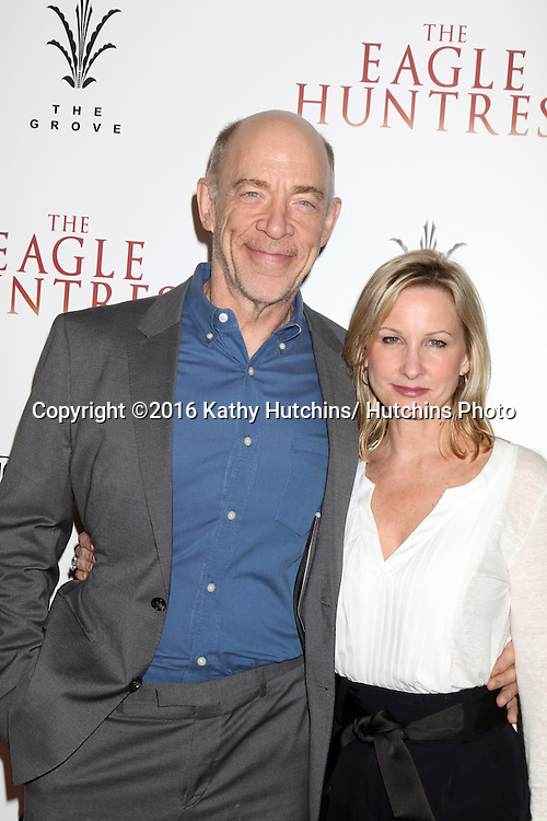"""LOS ANGELES - OCT 18:  J. K. Simmons, Michelle Schumacher at the """"The Eagle Huntress"""" Premiere at the Pacific Theatres at The Grove on October 18, 2016 in Los Angeles, CA"""