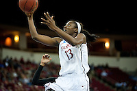 FRESNO, CA--Chiney Ogwumike drives for two during a 76-60 win over South Carolina at the Save Mart Center for the West Regionals semifinals of the 2012 NCAA Championships.