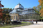 Palacio de Cristal, Crystal Palace built 1887 in El Retiro park, Madrid, Spain