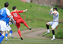 Scott Chaplain (10) scores Albion Rovers' first goal ......