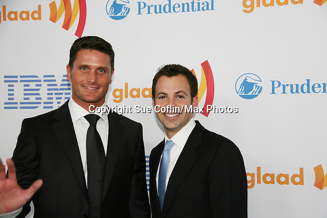 Reichen Lehmkuhl (Days & Y&R) and Anthony Wilkinson (Assoc. Dir OLTL) win at the 21st Annual GLAAD Media Awards on March 13, 2010 at the New York Marriott Marquis, New York City, NY. ALSO Reichen will be starring in My Big Gay Italian Wedding by Anthony Wilkinson beginning May 5 and opening May 22 at St. Luke's Theatre, NYC. (Photo by Sue Coflin/Max Photos)