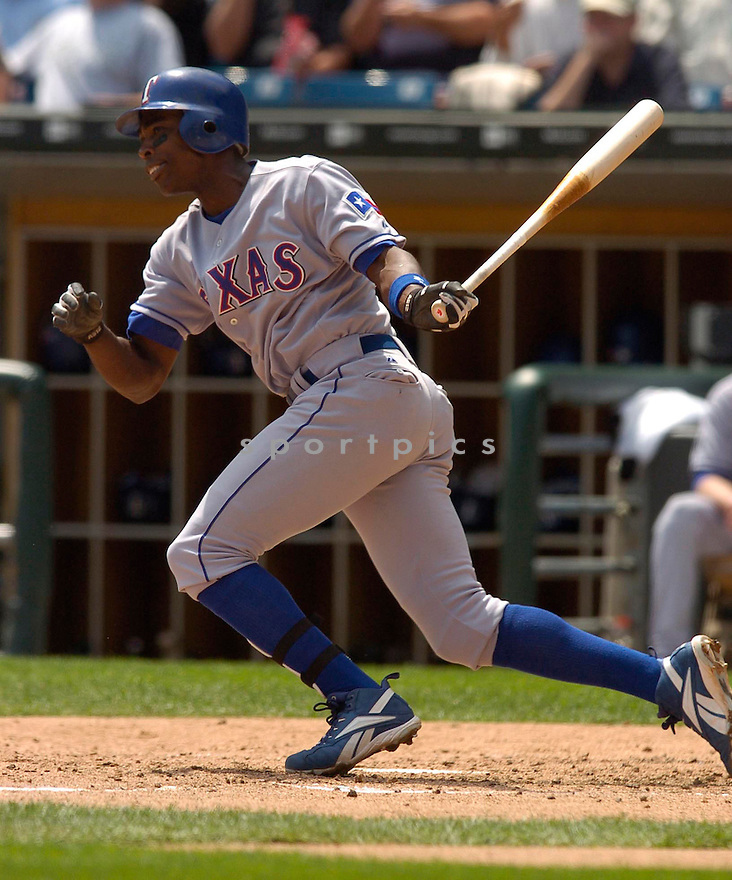 Alfonso Soriano, of the Texas Rangers, in action against the Chicago White Sox, on May 18, 2005...White Sox win 7-0...David Durochik / SportPics