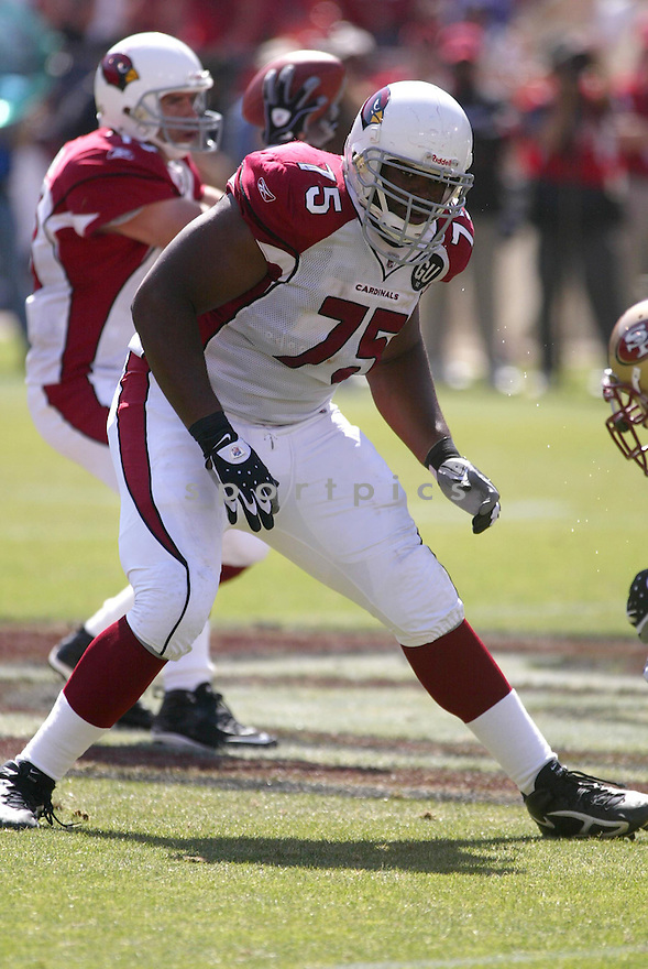 LEVI BROWN, of the Arizona Cardinals , in action during the  Cardinals game against the San Francisco 49ers on September 7, 2008 in San Francisco, California...The San Francisco 49ers win 23-13