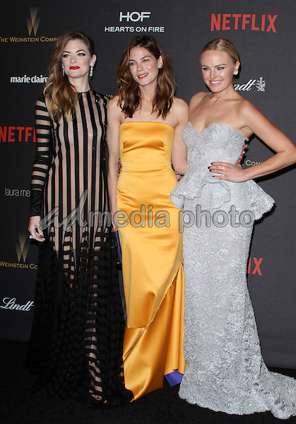 10 January 2016 - Los Angeles, California - Jamie King, Michelle Monaghan and Malin Akerman. 2016 Weinstein Company & Netflix Golden Gloves After Party held at the Beverly Hilton Hotel. Photo Credit: AdMedia