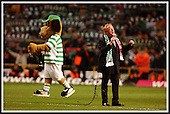 Celtic V Liverpool - Uefa Cup Quarter Final, 1st Leg - Celtic Park, Glasgow - Gerry Marsden sings You'll Never Walk Alone prior to the match, with Celtic mascot Hoopy joining in.... Picture by Donald MacLeod 13.03.03