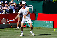Dominic Thiem in action at the Hurlingham Club tennis exhibition against Nicolas Jerry<br /> Aspall Tennis Classic at Hurlingham 2019 on June 29, 2019.<br /> CAP/GOL/EL<br /> ©EL/GOL/Capital Pictures
