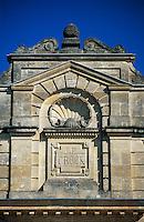 Europe/France/Aquitaine/33/Gironde/Saint-Estèphe: château Le Crocq (AOC Saint-Estèphe) - Détail de la façade [Non destiné à un usage publicitaire - Not intended for an advertising use]