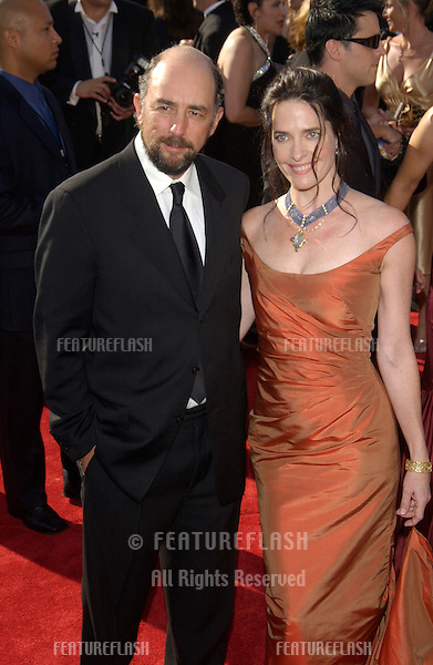 RICHARD SCHIFF & SHEILA KELLEY at the 55t Annual Emmy Awards in Los Angeles..Sept 21, 2003