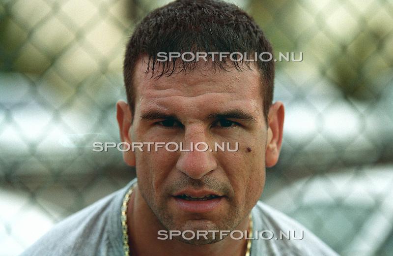 Spanje, Lanzarote, 15 september 2001.Nordin Ben Saleh, bokser .