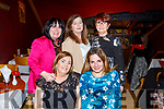 Maire O'Shea, Kerry Enright, Jacinta Powell, Ann O'Sullivan and Noelle McCoy enjoying their Christmas party in Ristorante Uno on Saturday night,