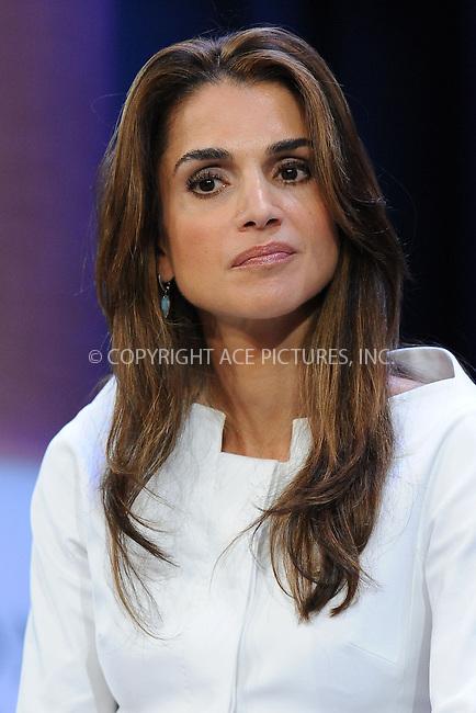 WWW.ACEPIXS.COM . . . . . ....September 24 2009, New York City....Queen Rania Al-Abdullah of Jordan at the Clinton Global Initiative on September 24 2009 in New York City....Please byline: KRISTIN CALLAHAN - ACEPIXS.COM.. . . . . . ..Ace Pictures, Inc:  ..tel: (212) 243 8787 or (646) 769 0430..e-mail: info@acepixs.com..web: http://www.acepixs.com