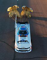 Feb 23, 2019; Chandler, AZ, USA; NHRA funny car driver John Force during qualifying for the Arizona Nationals at Wild Horse Pass Motorsports Park. Mandatory Credit: Mark J. Rebilas-USA TODAY Sports