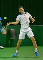 09-02-14, Netherlands,Rotterdam,Ahoy, ABNAMROWTT, Dominic Thiem<br /> Photo:Tennisimages/Henk Koster