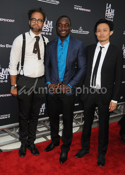 "10 June 2015 - Los Angeles, California - Donari Braxton, Bishop Blay, Takeshi Fukunaga. LA Film Festival 2015 Opening Night Premiere of ""Grandma"" held at Regal Cinemas LA Live. Photo Credit: Byron Purvis/AdMedia"