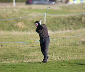 6th October 2017, Carnoustie Golf Links, Carnoustie, Scotland; Alfred Dunhill Links Championship, second round; England's Luke Donald plays from the rough on the first hole during the second round at the Alfred Dunhill Links Championship on the Championship Links, Carnoustie