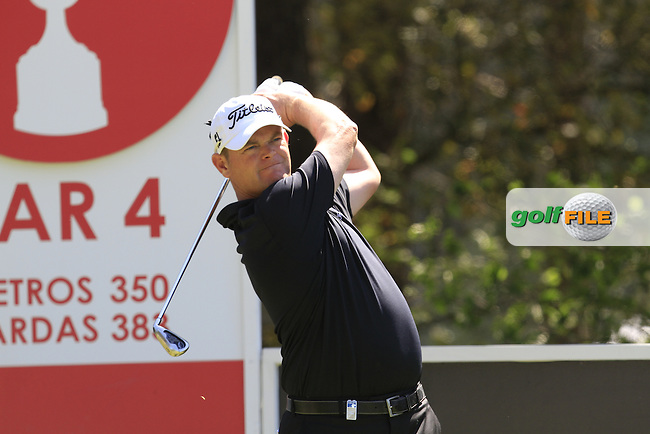 David Drysdale (SCO) on the 2nd tee during Thursday's Round 1 of The Open De Espana at The PGA Catalunya Resort. 15th May 2014.<br /> Picture:  Thos Caffrey / www.golffile.ie