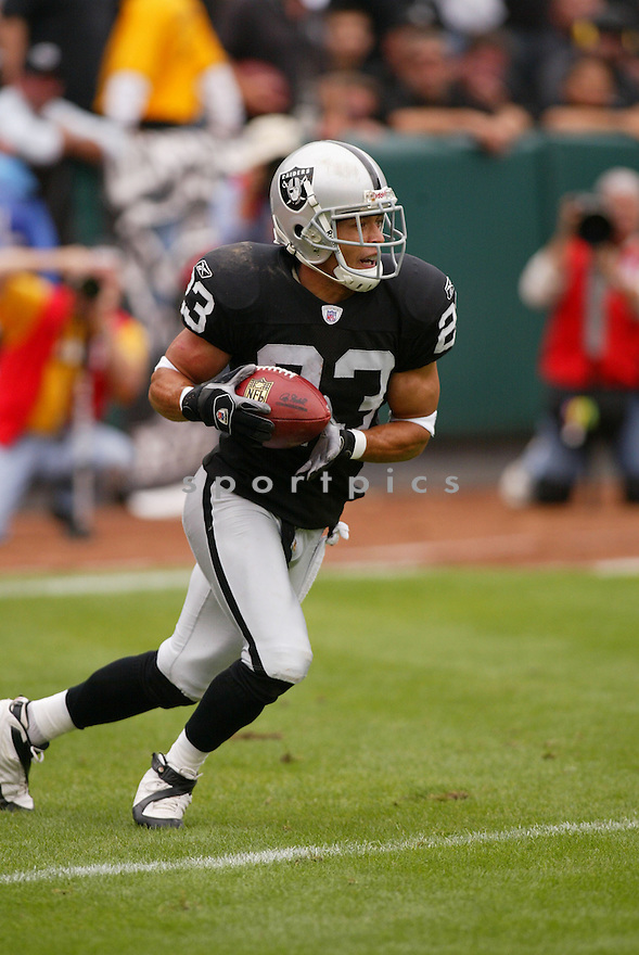 CHRIS CARR,  of the Oakland Raiders, in action during the Raiders game against the Cleveland Browns game on September 23, 2007 in Oakland, CA...Raiders win 26-24.........