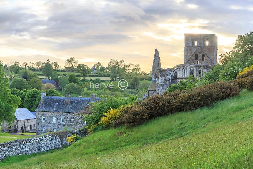 France, Manche (50), Cotentin, Hambye, abbaye de Hambye, abbaye bénédictine fondée au XIIe siècle // France, Manche, Cotentin Peninsula, Hambye, Hambye abbey dated 12th century