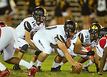 Inglewood, CA 10/09/14 - Daniel Schubert (Peninsula #18) and Jacob Rathbun (Peninsula #51) in action during the Palos Verdes Peninsula vs Morningside CIF Varsity football game at Coleman Field in Inglewood.  Peninsula defeated Morningside 24-13.