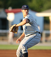 2007:  Cole Kimball of the Vermont Lake Monsters, Class-A affiliate of the Washington Nationals, during the New York-Penn League baseball season.  Photo by Mike Janes/Four Seam Images