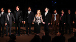 Raul Esparza, Michael Stuhlbarg, David Harbour, Jesse L. Martin, Meryl Streep, Kevin Kline, Joe Morton, David Pittu, F. Murray Abraham & Sandra Oh.pictured during Curtain Call for the Public Theater Celebrates 50 Years at the Delacorte Theater with a Benefit Reading of ''Romeo And Juliet'  in Central Park, New York City on June 18, 2012