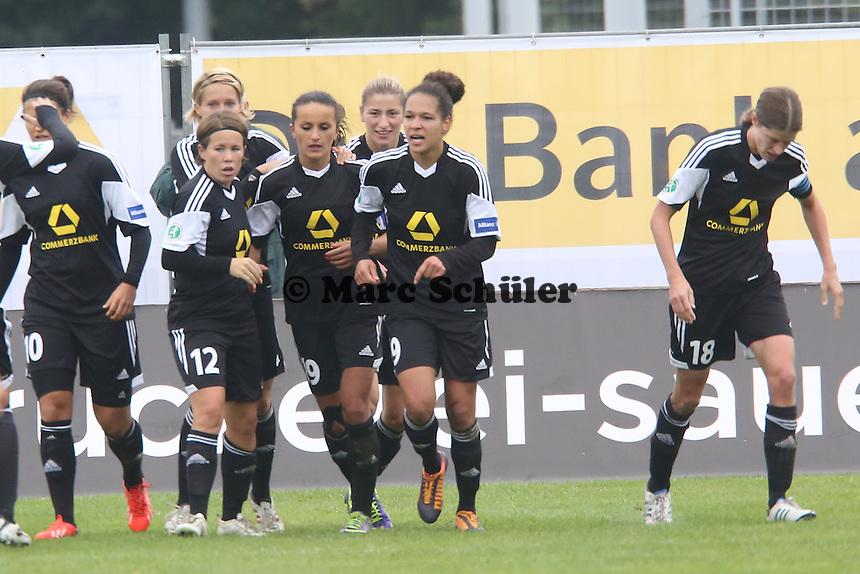Torjubel beim 1:0 von Celia Sasic (FFC) - 1. FFC Frankfurt vs. FC Bayern München