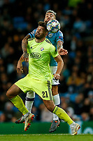Nicolas Otamendi of Manchester City and Bruno Petkovic of Dinamo Zagreb during the UEFA Champions League Group C match between Manchester City and Dinamo Zagreb at the Etihad Stadium on October 1st 2019 in Manchester, England. (Photo by Daniel Chesterton/phcimages.com)<br /> Foto PHC/Insidefoto <br /> ITALY ONLY