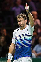 Februari 12, 2015, Netherlands, Rotterdam, Ahoy, ABN AMRO World Tennis Tournament, Stan Wawrinka (SUI) <br /> Photo: Tennisimages/Henk Koster