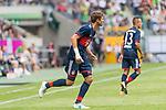 15.07.2017, Borussia Park, Moenchengladbach, GER, TELEKOM CUP 2017 - FC Bayern Muenchen vs TSG 1899 Hoffenheim<br /> <br /> im Bild<br /> Thomas M&uuml;ller / Mueller (FC Bayern Muenchen #25) mit Verband an Handgelenk rechts, <br /> <br /> Foto &copy; nordphoto / Ewert
