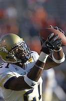 12 November 2005:Georgia Tech WR Calvin Johnson (21)..The Virginia Cavaliers defeated the Georgia Tech Yellow Jackets 27-17 at Scott Stadium in Charlottesville, VA.