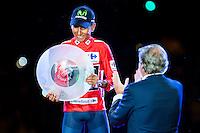 Nairo Quintana, winner of La Vuelta a España 2016 in Madrid. September 11, Spain. 2016. (ALTERPHOTOS/BorjaB.Hojas) NORTEPHOTO.COM