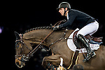 Pieter Devos of Belgium rides Dream of India Greenfield in action at the Longines Grand Prix during the Longines Hong Kong Masters 2015 at the AsiaWorld Expo on 15 February 2015 in Hong Kong, China. Photo by Juan Flor / Power Sport Images