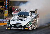 Jul. 26, 2013; Sonoma, CA, USA: NHRA funny car driver John Force during qualifying for the Sonoma Nationals at Sonoma Raceway. Mandatory Credit: Mark J. Rebilas-