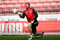 Fleetwood Town's Paul Jones warms up<br /> <br /> Photographer Richard Martin-Roberts/CameraSport<br /> <br /> The EFL Sky Bet League One - Barnsley v Fleetwood Town - Saturday 13th April 2019 - Oakwell - Barnsley<br /> <br /> World Copyright &not;&copy; 2019 CameraSport. All rights reserved. 43 Linden Ave. Countesthorpe. Leicester. England. LE8 5PG - Tel: +44 (0) 116 277 4147 - admin@camerasport.com - www.camerasport.com