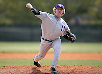 February 22, 2009:  Pitcher Brian Morgan (26) of Northwestern University during the Big East-Big Ten Challenge at Naimoli Complex in St. Petersburg, FL.  Photo by:  Mike Janes/Four Seam Images