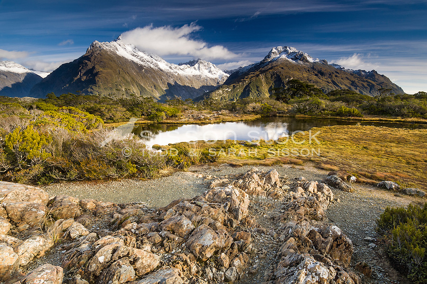 Mt Christina and tarns at Key Summit on the Routeburn track, Fiordland, South Island