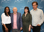 """Audra McDonald, Terrence McNally, Arin Arubs and Michael Shannon during the """"Frankie And Johnny In The Clair De Lune"""" Company Meet The Press  at the the New 42nd Street Studios on April 18, 2019 in New York City."""