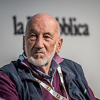 Pescara, Gianni Berengo Gardin - Photographer -during the RepIdee Conference, on October 17, 2015. Photo: Adamo Di Loreto/buenaVista*photo