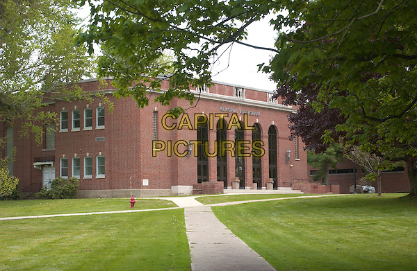 SHARON STONE'S SCHOOL.Edinboro, PA, USA;  Actress SHARON STONE was born and raised in Meadville, a small town in Pennsylvania.  At the age of 15, she studied in Saegertown High School, PA, and at that same age, entered EDINBORO STATE UNIVERSITY OF PENNSYLVANIA, and graduated with a degree in creative writing and fine arts..Mandatory Credit: Photo by Jason Nelson/AdMedia.www.capitalpictures.com.sales@capitalpictures.com.© Capital Pictures.